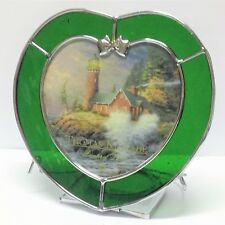 Thomas Kinkade Courage Stained Glass Tealight Candle Holder Heart Shaped w/ Box