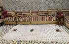 Vintage Moroccan Wedding Blanket Handira /BERBER multicolors flowers 9'x5'