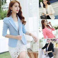 Womens Lapel Slim fit Blazer Suit Casual Blazer Jacket Long Sleeve Outwear Coat