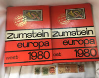 Zumstein Europa West & Ost 1980 Stamps Reference Book & Vtg Stamps Reichspost