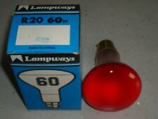 2 x 60w Amber R63 (R20) B22 spot light refector make Lampways selling in packs 2