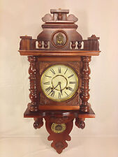 Vintage Vienna Regulator Free Swinger Wall Clock with Side Glass Runs & Strikes