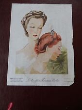 ART DECO HAIR Stylists ILLUSTRATION recent find in French SALON amazing  b