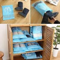 Portable Travel Shoe Bag Zip View Window Pouch Storage Waterproof Bags 10pcs