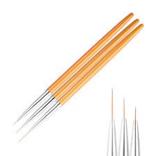 LC_ 3 pz / Set Unghie Linea Arte Spazzola LINEA DISEGNO PENNA nylon capelli
