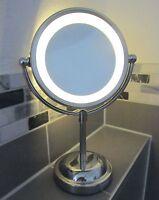 5 x Magnifying Round LED Illuminated Bathroom Make Up Cosmetic Shaving Mirror
