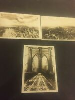 #32P 3 Vintages Photos of New York.South&North View from Empire State Bldg