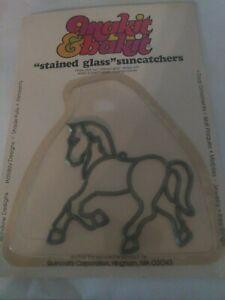 HORSE Makit Bakit Make It Bake It Stained Glass Suncatcher Vtg NOS