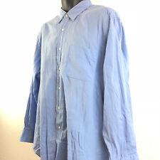 Ralph Lauren Polo mens button down shirt Warwick cotton sky blue 17 and 1/2 XL