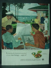 1951 US Beer Brewers Ad #58 in Series People Lake Scene Vintage Print Ad 12126