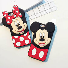 New 3D Cartoon Mickey Mouse Soft Silicone Case Cover Back Skin For Various Phone