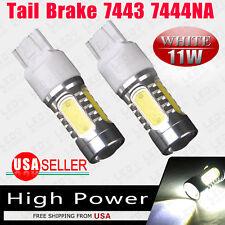 2x 7443 White High Power 11W Projector COB LED Light Blubs Tail Brake 7440 7441