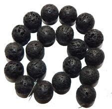 "14mm Volcanic Lava Rock Natural  Round Beads 40cm 15""  Stone"