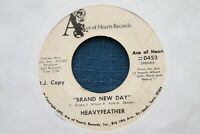 HEAVYFEATHER 45rpm Brand New Day ACE OF HEARTS 0453 SUPER RARE approx VG