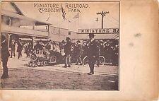 c.1905 Miniature Railroad Crescent Park RI post card Amusement Park