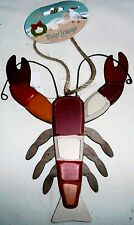 "Christmas Ornament  JUMBO WOOD LOBSTER 8.25""L X 6"" W  Jute Rope for Hanging"