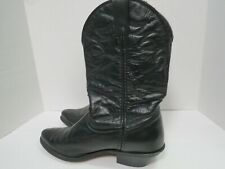 Laredo Black Leather Western Cowboy Boots Womens Size 8.5 M  28970