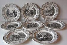 Otto antichi piatti P&H Choisy -  plate - assiette Telemaco '800