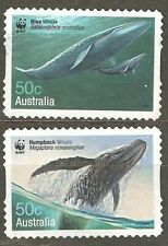 Australia: 2 used stamps, Whales Down Under, 2006, Mi#2681-2