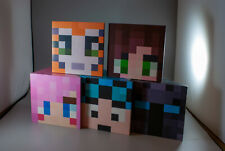 x3 Children Kids Room Deco Wooden Shelf minecraft inspired corner Shelves