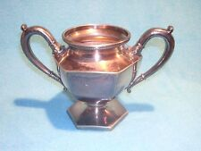 American Silver Company Sugar Bowl with 17 3 Stamped on Bottom and Initials GM