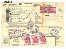 AZ313 1973 Switzerland HIGH VALUES Geneva *Insured Mail* Card Italy PTS