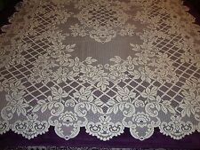 "New White lace Flower Trellis design Tablecloth 60"" x 83"""