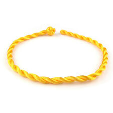 1 Yellow STRING BANGLE . . . . Friendship Bracelet Adjustable Urban Fashion Wrap