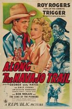 Roy Rogers Along the Navajo Trail 1945 cult western movie poster print