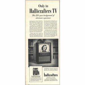 1953 Hallicrafters TV: 20 Year Background Electronic Exp Vintage Print Ad