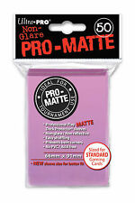 100 Ultra Pro-Matte Pink Deck Protector Sleeves MTG Magic The Gathering