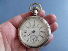 RARE WALTHAM 'CANADIAN RAILWAY TIME SERVICE' POCKET WATCH 17J c1896 - GWO