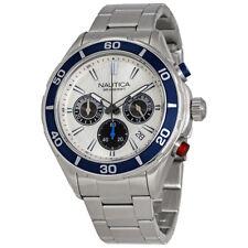 Nautica Chronograph Silver Dial Mens Watch NAD20514G