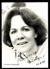 Christine Hammacher AUTOGRAFO MAPPA ORIGINALE FIRMATO # BC 35465