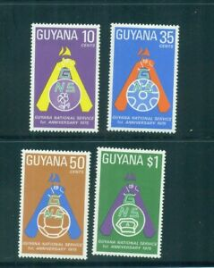 Guyana 1975 National Service and Emblem MNH  SG 639-642