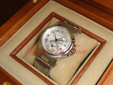 Breguet Marine Automatic Dual Time StainlessSteel 42mm Silver Dial 5857ST/12/SZ0
