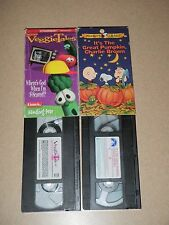 It's The Great Pumpkin Charlie Brown Veggie Tales Where's God S-scared VHS