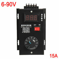 DC Motor Speed Governor 6-90V PWM Module 15A Digital Controller Switch Display
