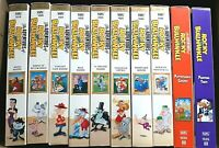 The Adventures of Rocky & Bullwinkle VHS Volumes 1-8 plus 2 Bonus Tapes EUC