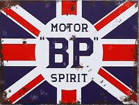 BP Motor spirit Garage Retro metal Sign vintage / man cave / garage / Shed Gift