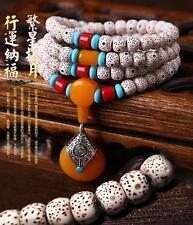 108p Tibetan Meditation Prayer Buddhist Buddha Bead Necklace Mala Bodhi Bracelet