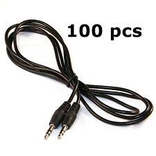 100 Pcs Lots Wholesale 3.5 mm 3.5mm Male to Male Jack Plug Cable Lead Car Aux In