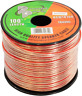 100 ft Roll 18Ga Clear Car & Home Audio Stereo Speaker Wire Cable 18 Gauge AWG