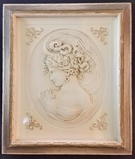 Vintage Turner Wall Accessory West Wind Cameo Lady Female Potrait