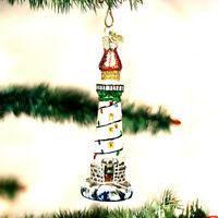 CHRISTMAS NAUTICAL LIGHTHOUSE ORNAMENT BY (OLD WORLD CHRISTMAS) GLASS BEAUTIFUL