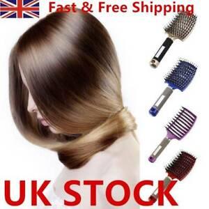 Bristle Nylon Hairbrush Massage Combs Detangle Hair Brush Smooth Hairs Comb