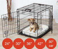 Mr Barker Puppy Training Crate Folding Metal Dog Car Cage 5 sizes 24-42 Inch