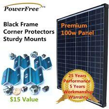 100W 100 Watt Photovoltaic Solar Panel + Free $20 Mount 12v volt Battery RV Boat