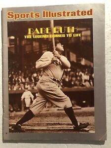 1974 Sports Illustrated NEW YORK Yankees BABE RUTH No Label THE LEGEND N/Label