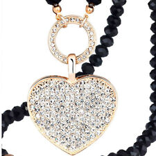 SWEET BEADS LONG NECKLACE FT CRYSTALS FROM SWAROVSKI KCP347